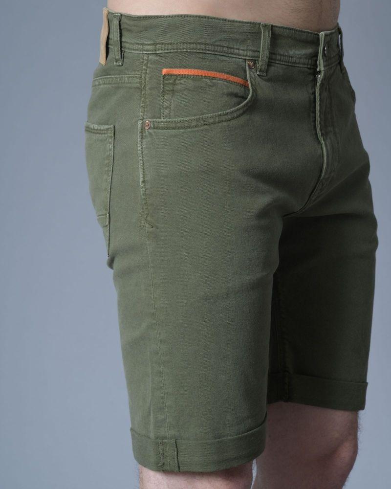 Short en jean kaki 3D