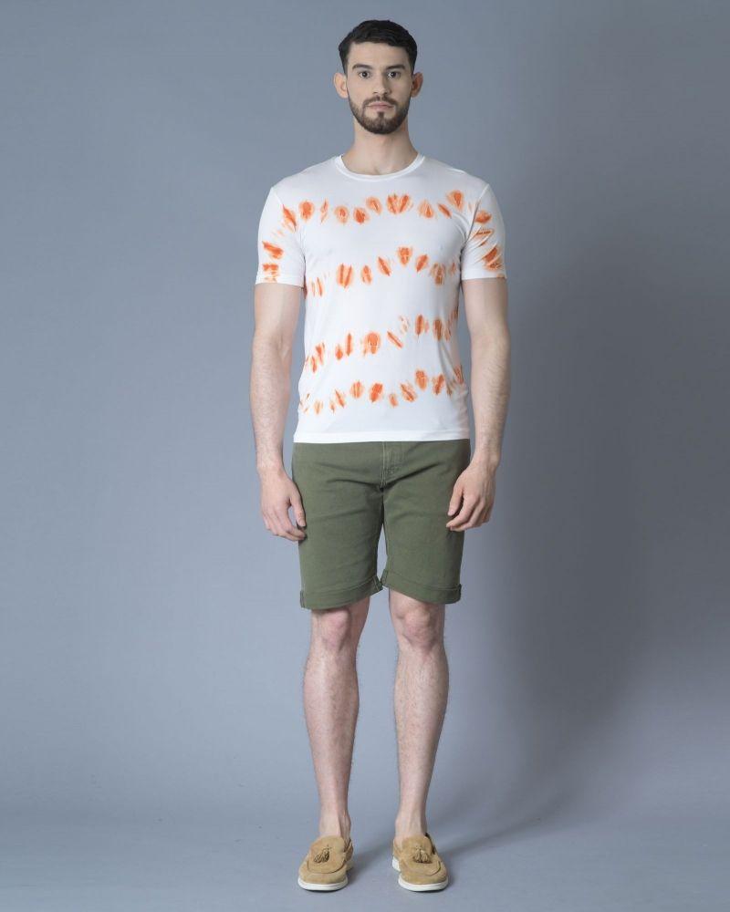 T-shirt en cupro à imprimé abstrait Daniele Fiesoli