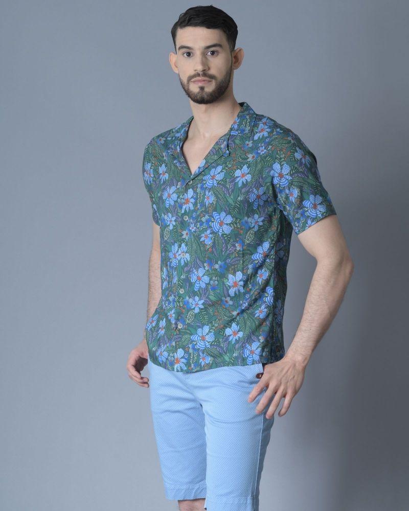 Chemise à imprimé floral Daniele Fiesoli