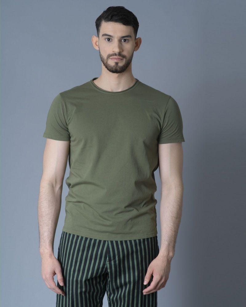 T-shirt kaki Daniele Fiesoli