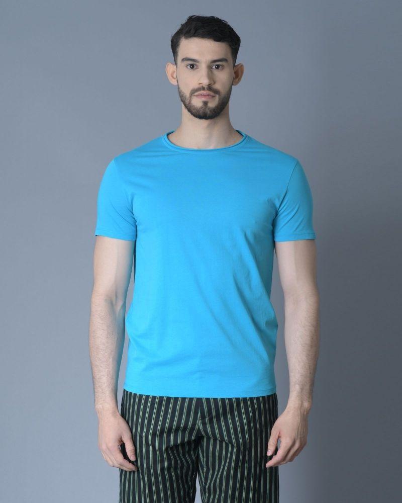 T-shirt Bleu Daniele Fiesoli