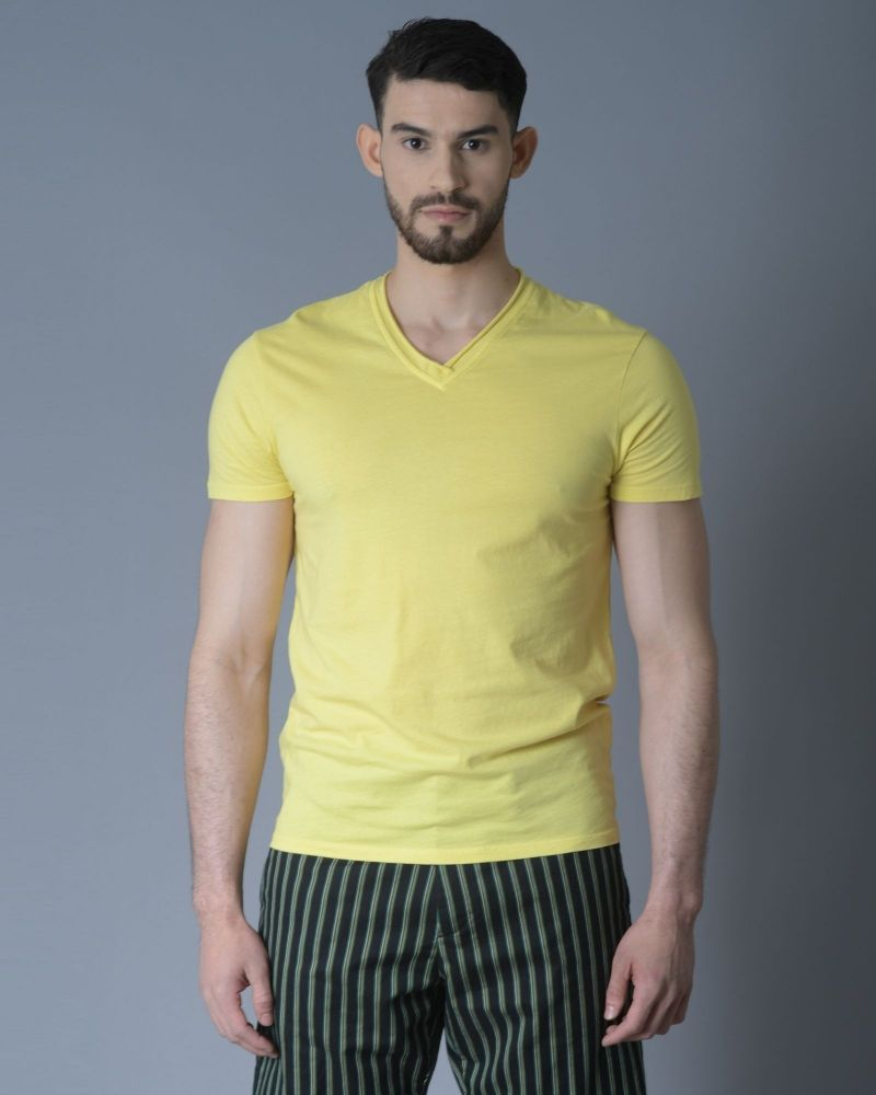 T-shirt jaune Daniele Fiesoli