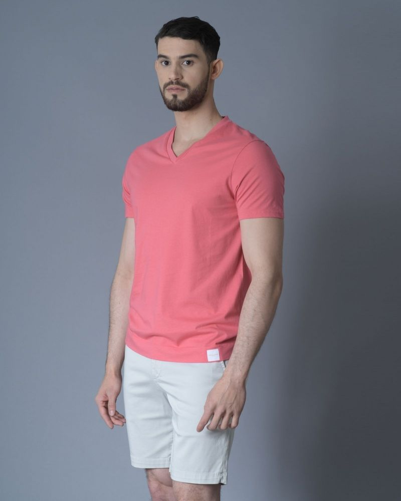 T-shirt Rose col v Daniele Fiesoli