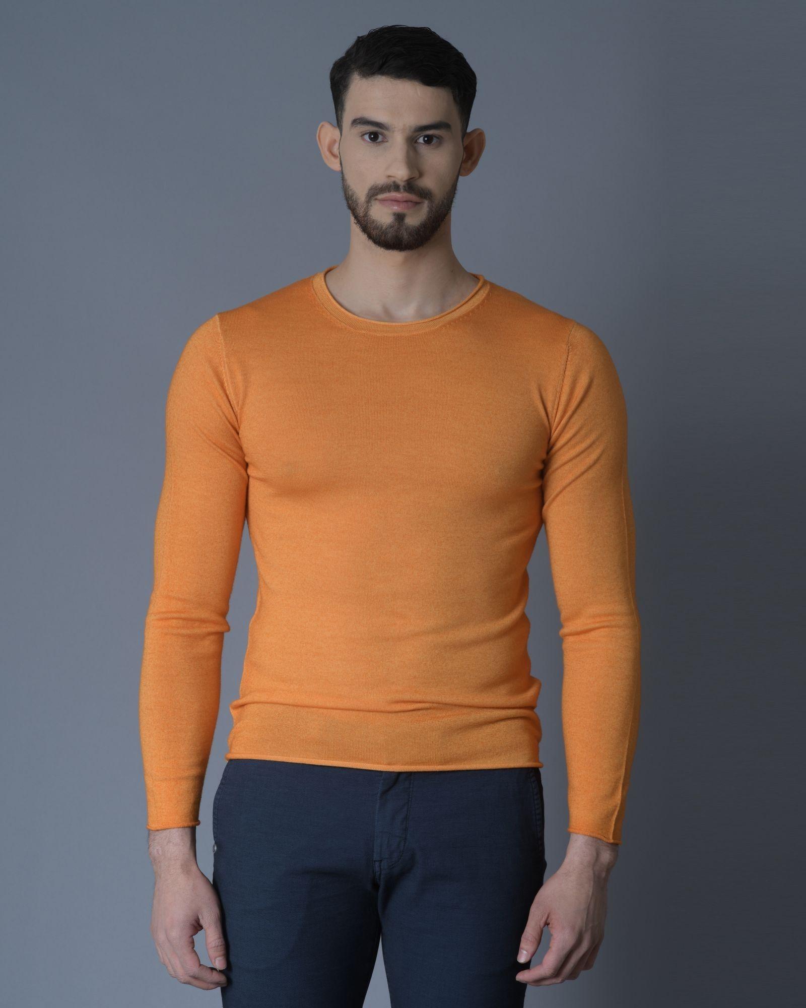 Pull Orange col Rond Daniele Fiesoli