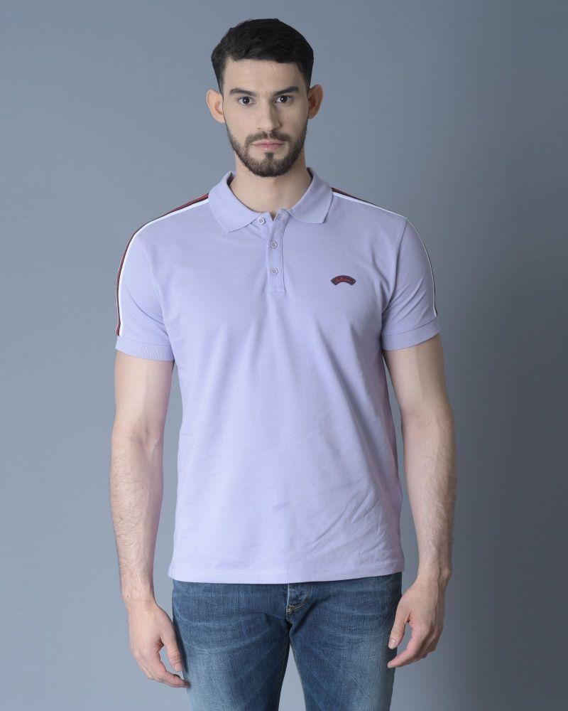 T-shirt violet avec bande aux épaules Les Copains
