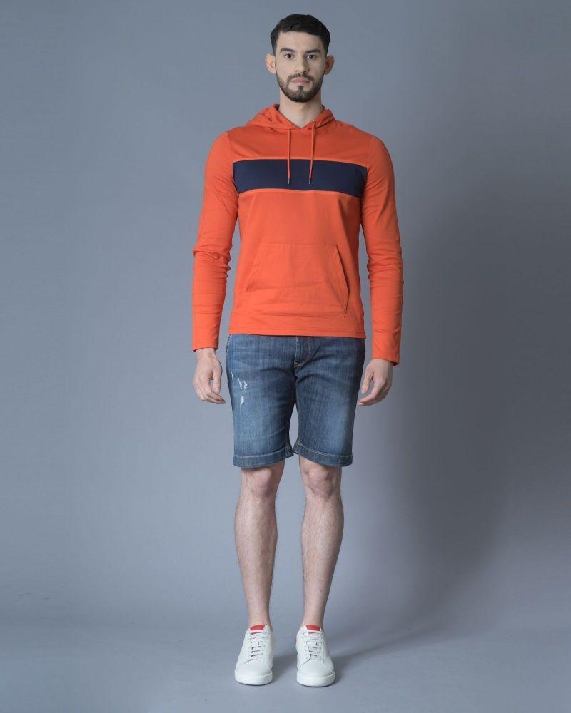 Short en jean bleu délavé 3D