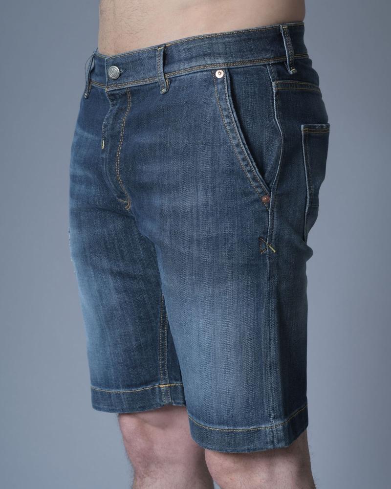 Short Jean Bleu 3D