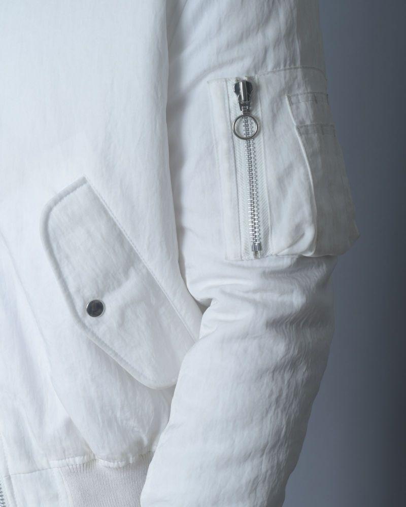 Bomber blanc en nylon texturé Soulland