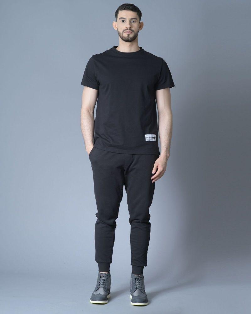 Pantalon survêtement noir en jersey coton John Richmond
