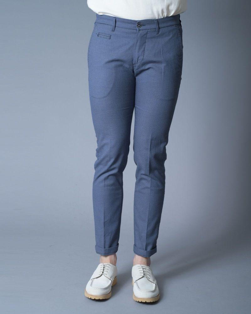 Pantalon bleu beige Re-Hash