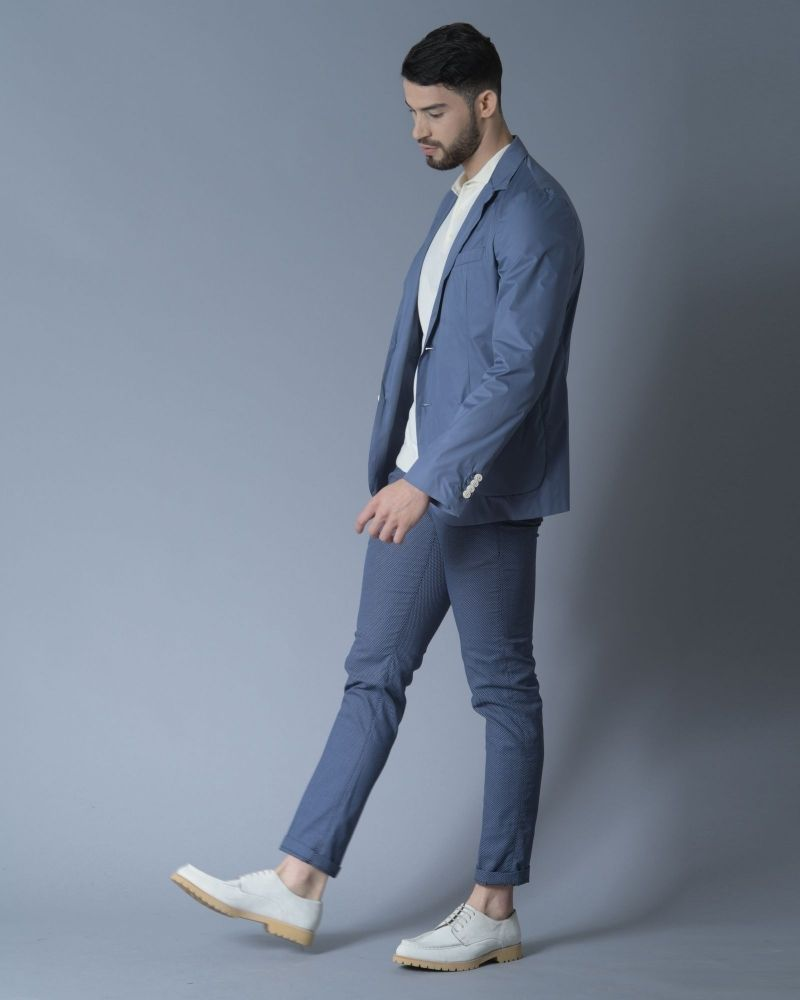 Pantalon en coton à motif pieds-de-poule Re-Hash