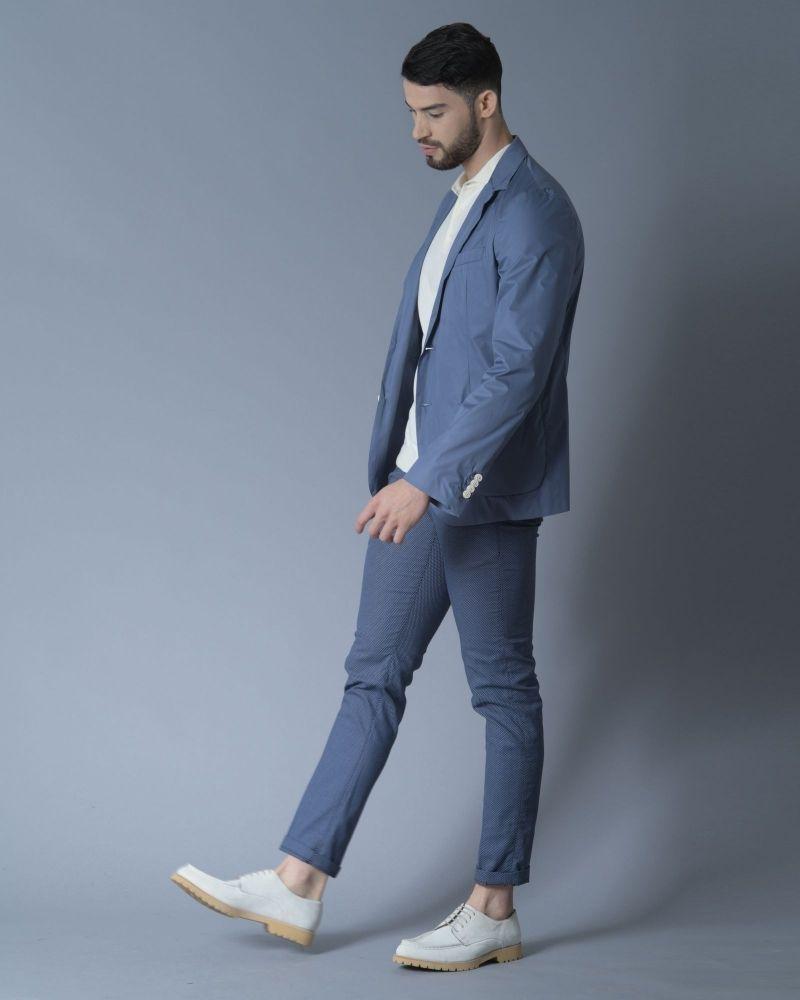 Pantalon en coton à motifs pieds-de-poule Re-Hash