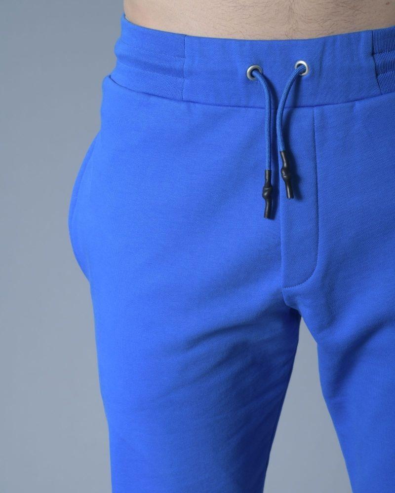 Pantalon survêtement en jersey bleu Alexander McQueen
