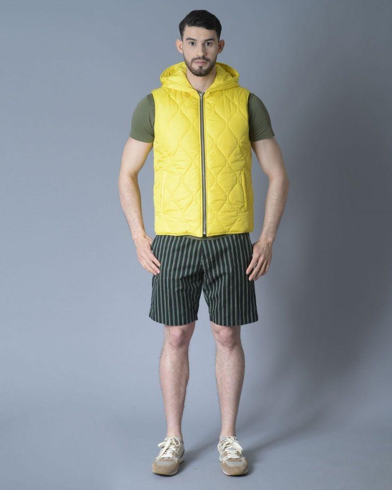 T-shirt en coton à bords roulés kaki Daniele Fiesoli