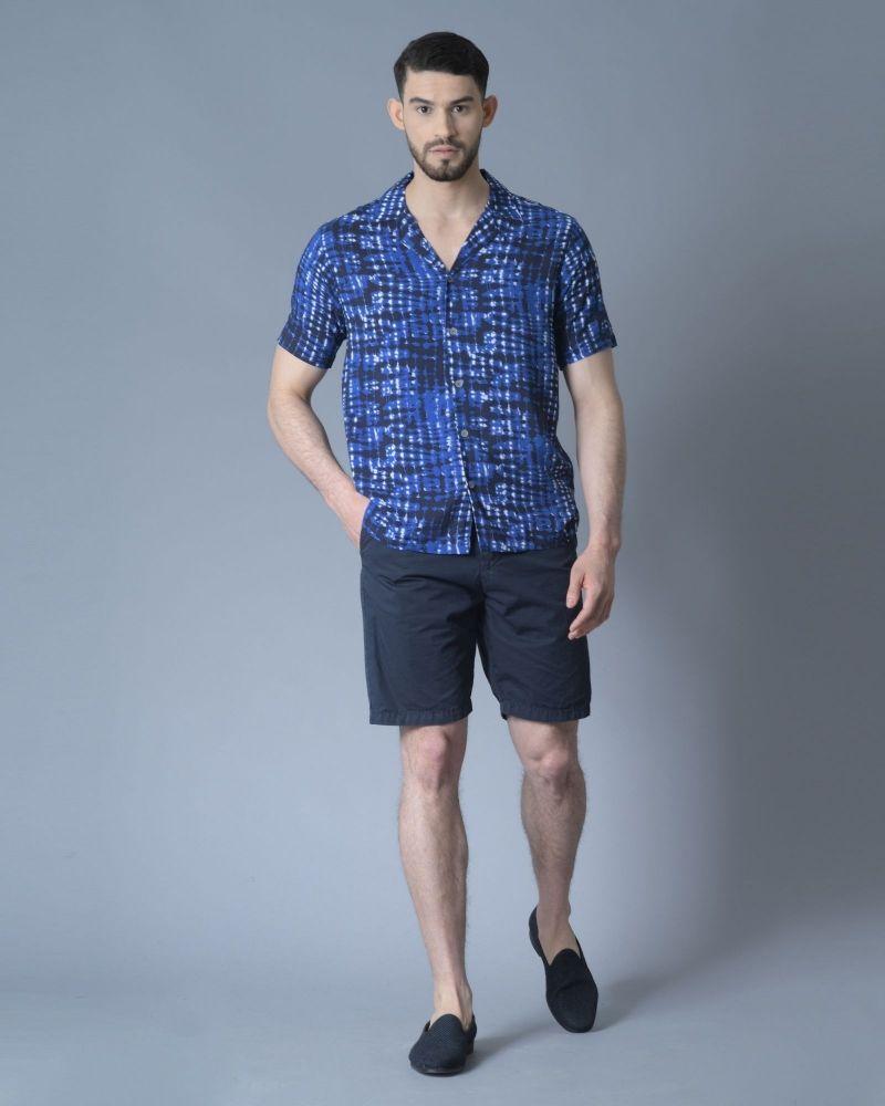Short en coton bleu marine Perfection