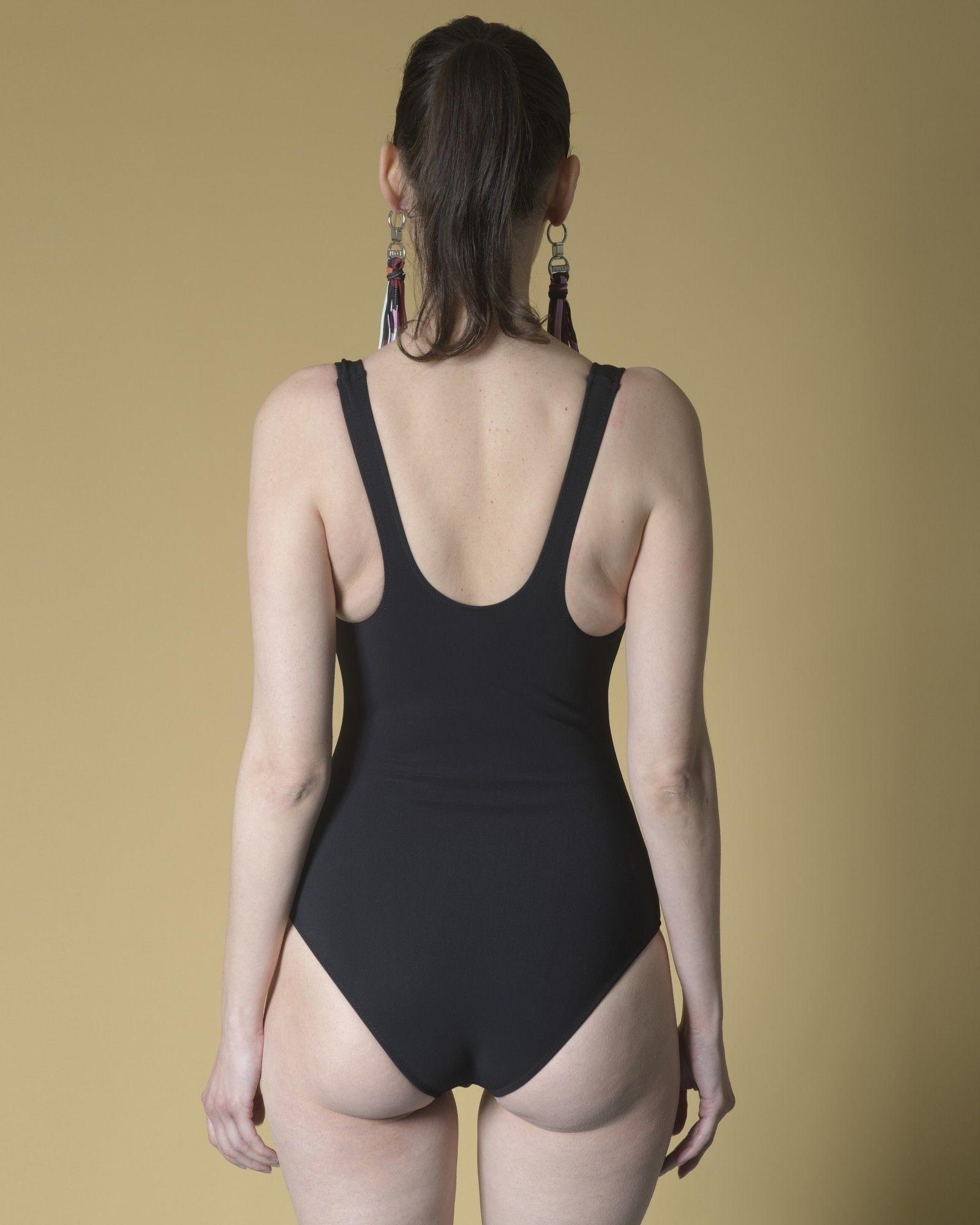 Maillot de bain en néoprène zippé noir Emilio Pucci