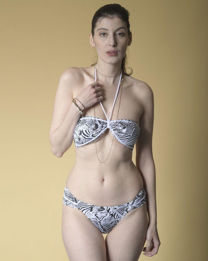Bikini dos nu à imprimé zèbre Valentina Vox