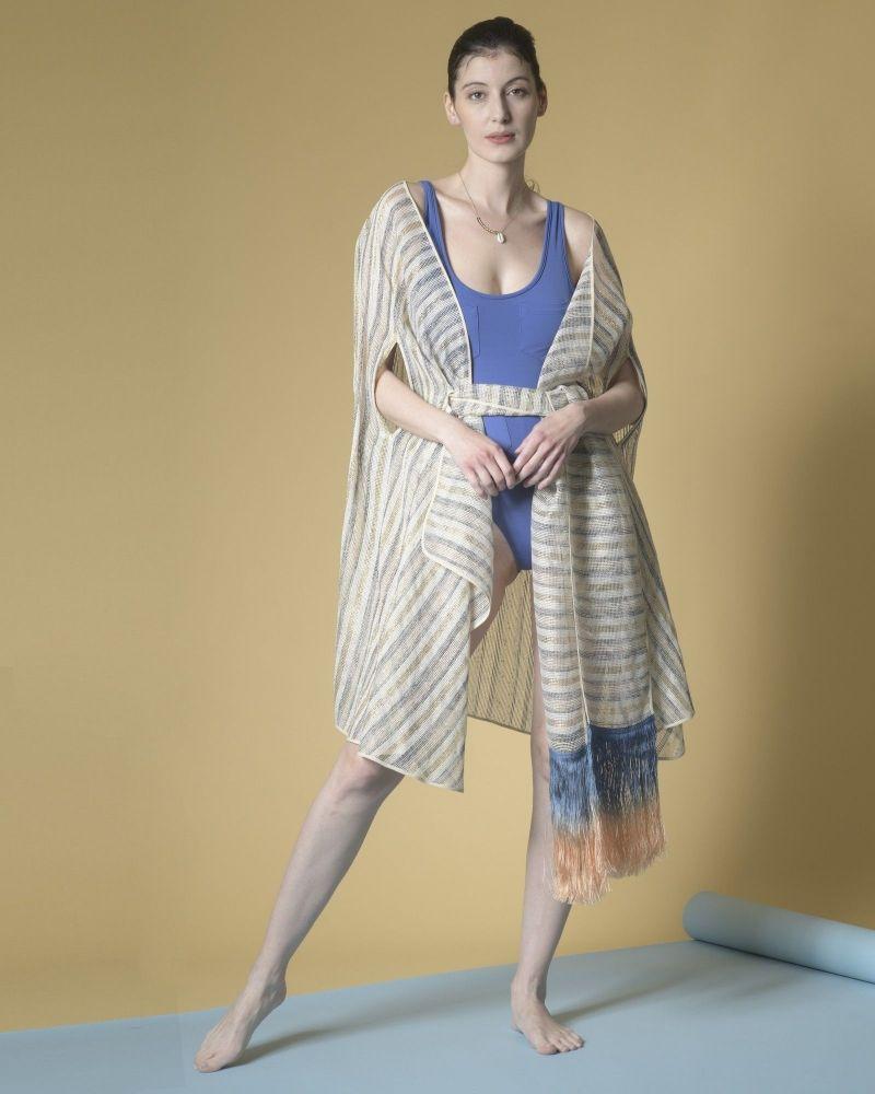 Kimono en coton mélangé à rayures Emilio Pucci