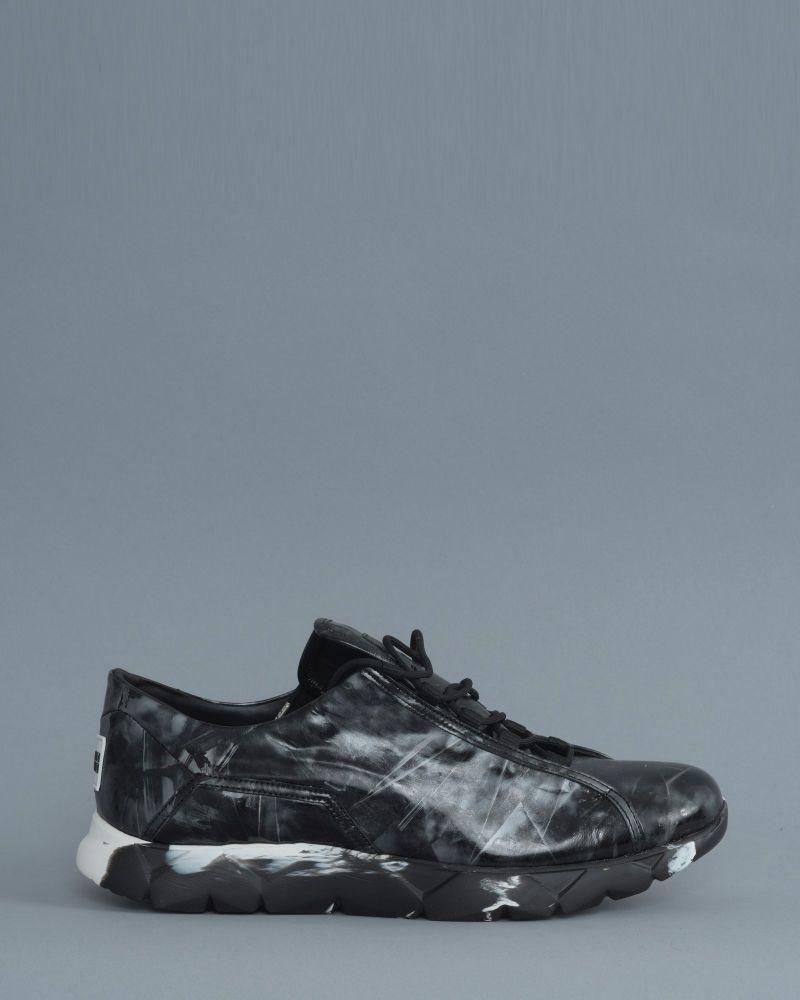 basket bicolore noir/gris Le Flow