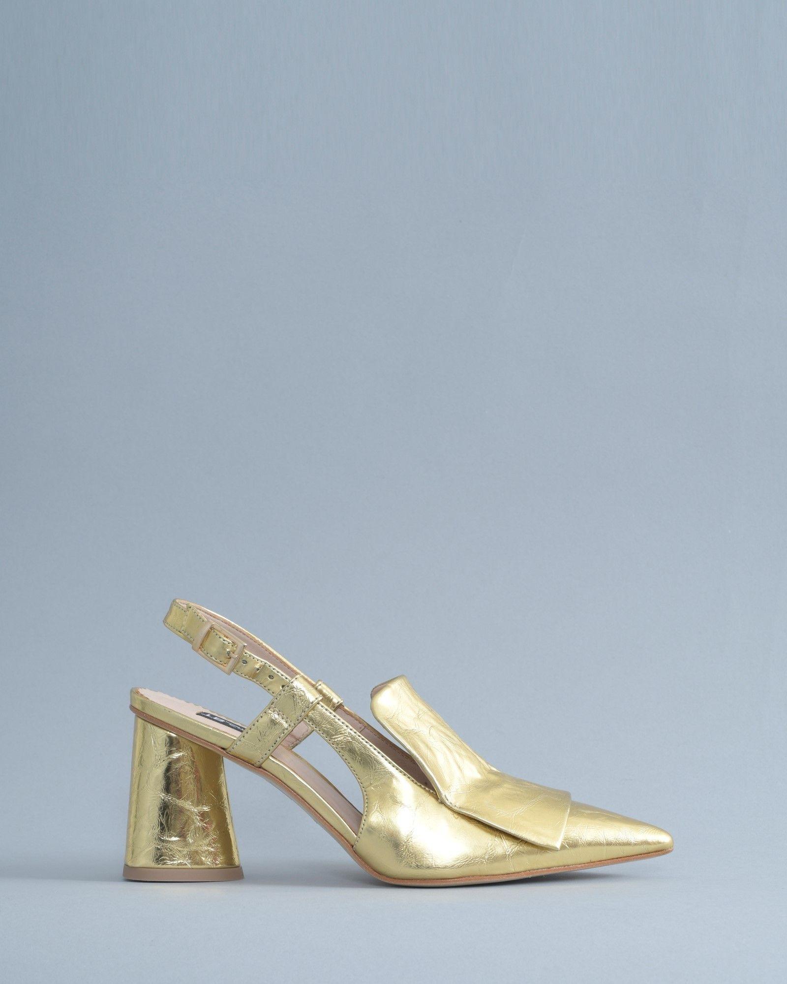 Escarpins dorés à talons Tosca Blu