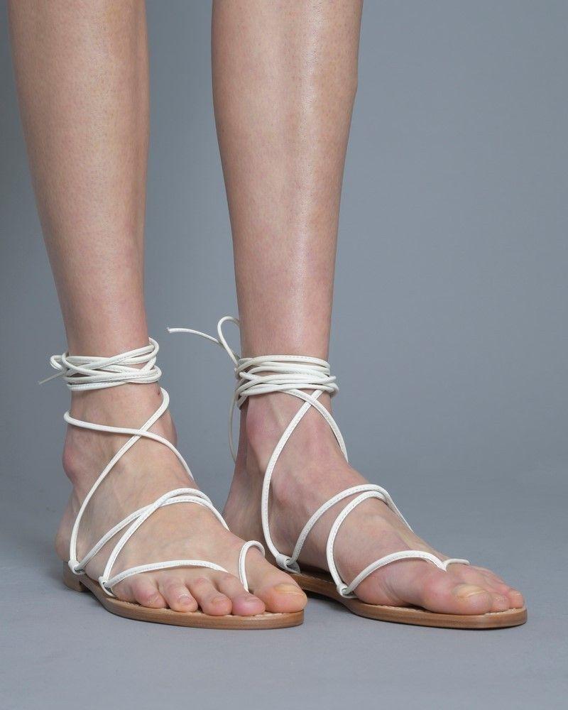 Sandale à Fil Blanc Casheart
