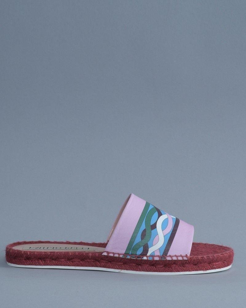 Sandale rouge/violet Emilio Pucci