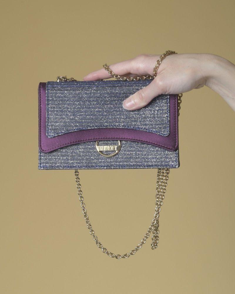 Mini sac à main à paillettes Emilio Pucci