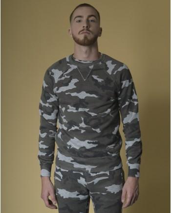 Sweat en coton à imprimé camouflage Soho