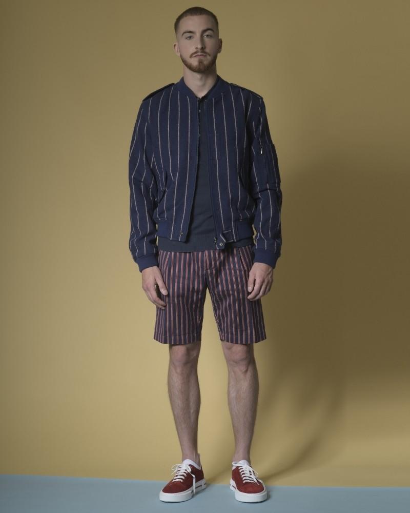 Polo en jersey de coton bleu marine Daniele Fiesoli