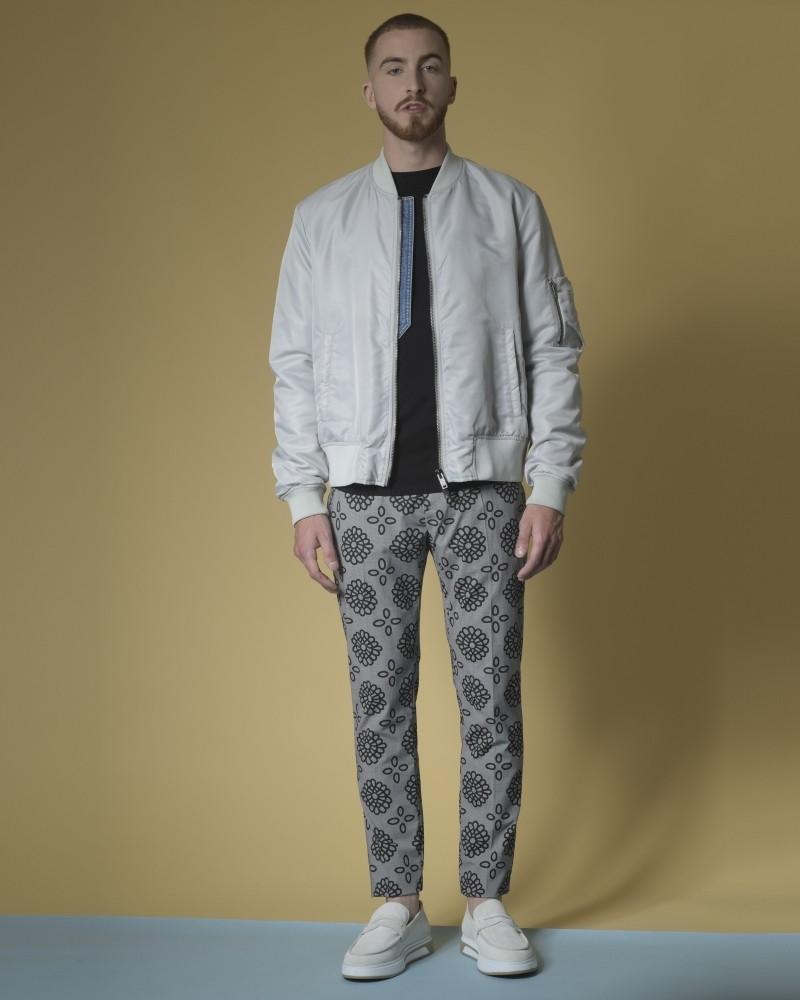Pantalon à imprimé pied-de-poule et fleuri Dondup