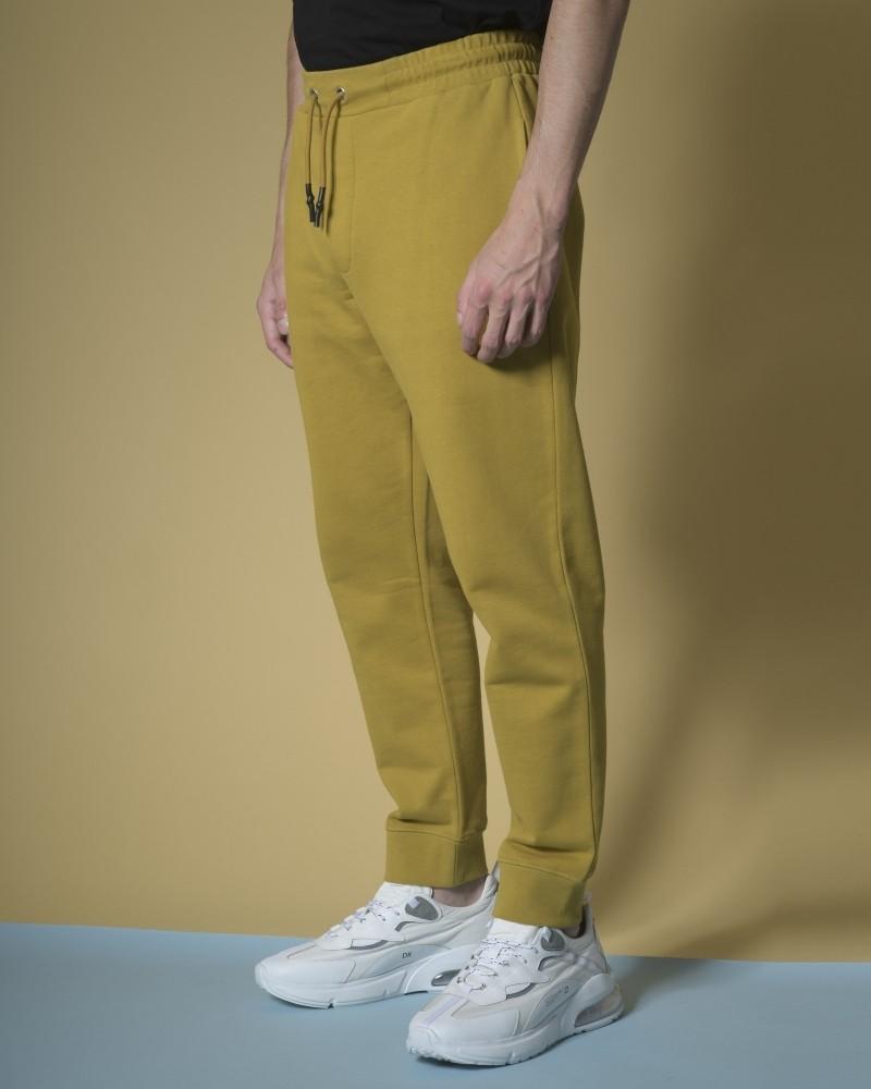 Pantalon survêtement en jersey moutarde Alexander McQueen
