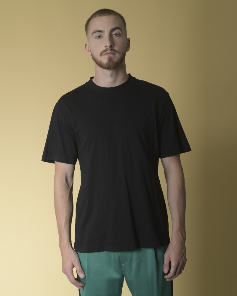 T-shirt en coton noir Ly Adams