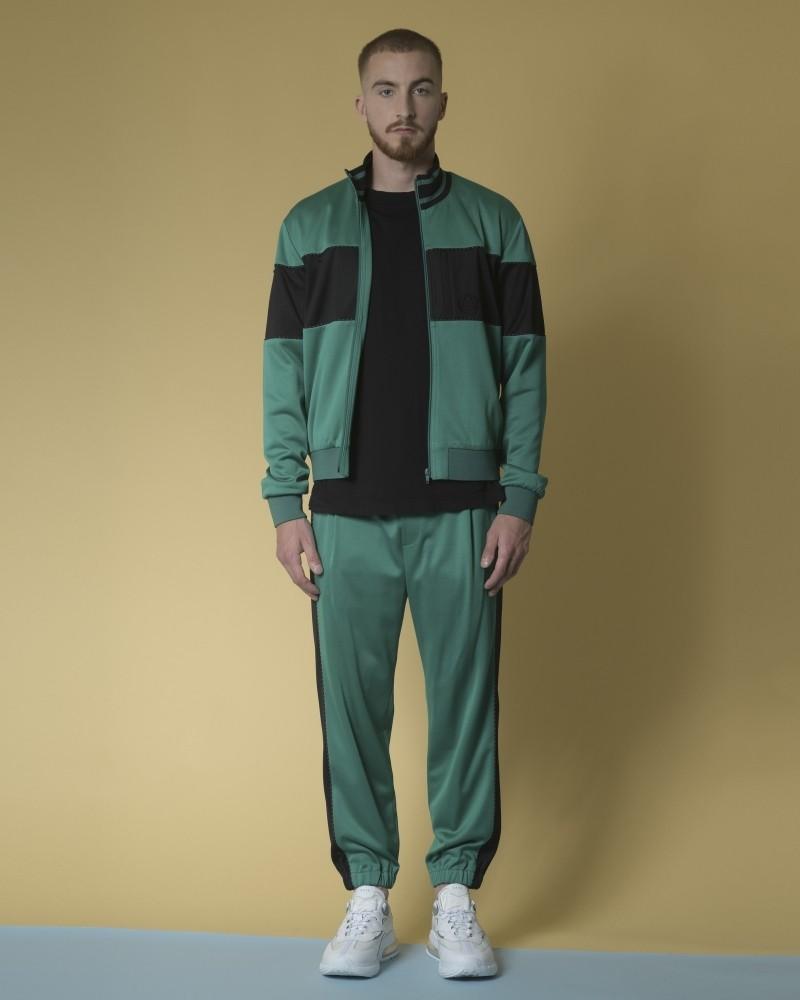 Veste jogging en jersey à bandes Alexander McQueen