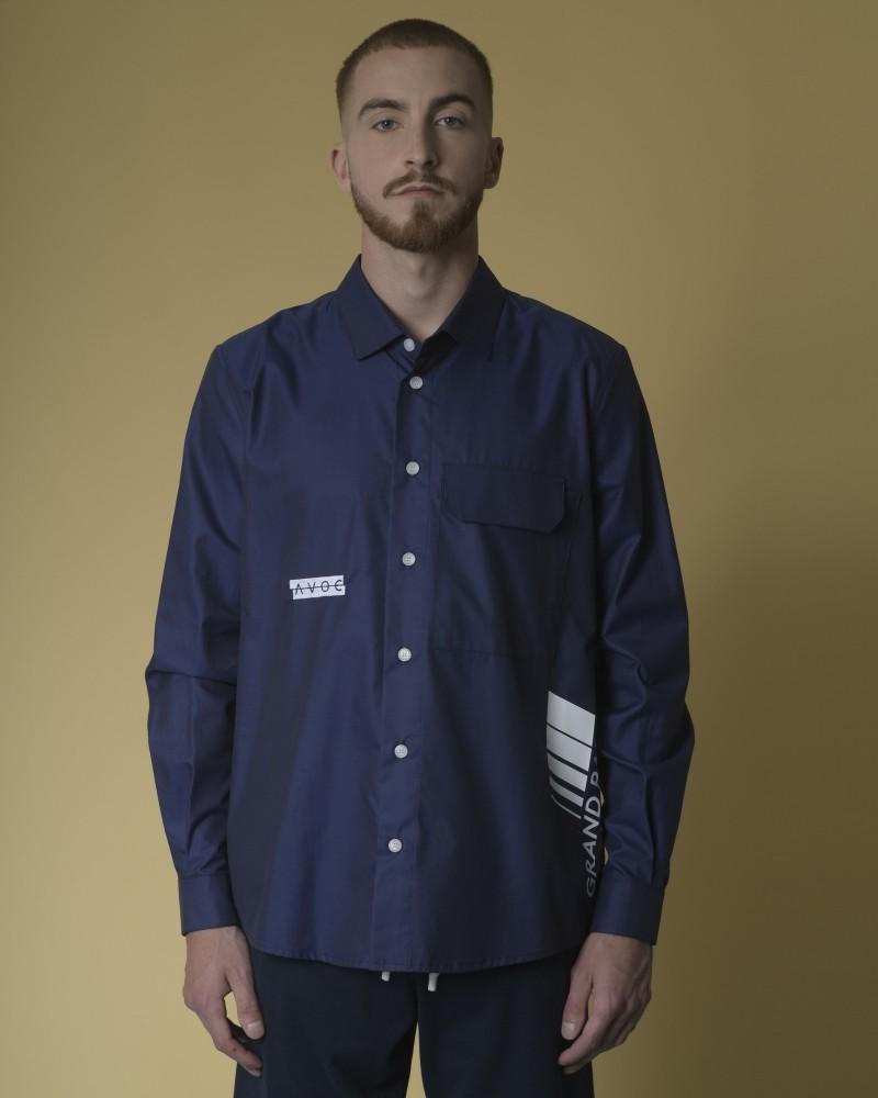 Chemise en coton à logo brodé et imprimé AVOC
