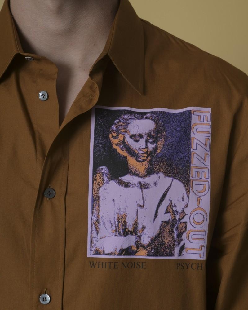 Chemise en coton imprimé Alexander McQueen
