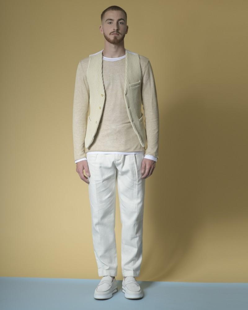 Gilet en coton mélangé tricoté Marchand Drapier