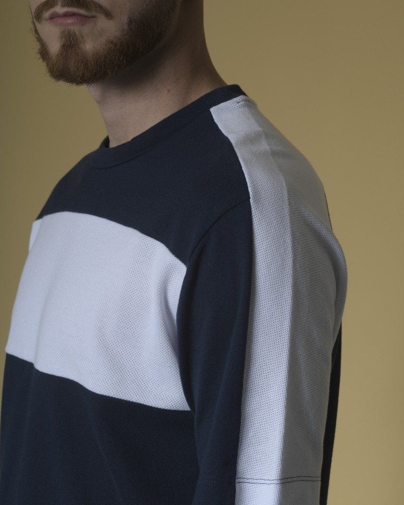 T-shirt en coton à empiècements Daniele Fiesoli