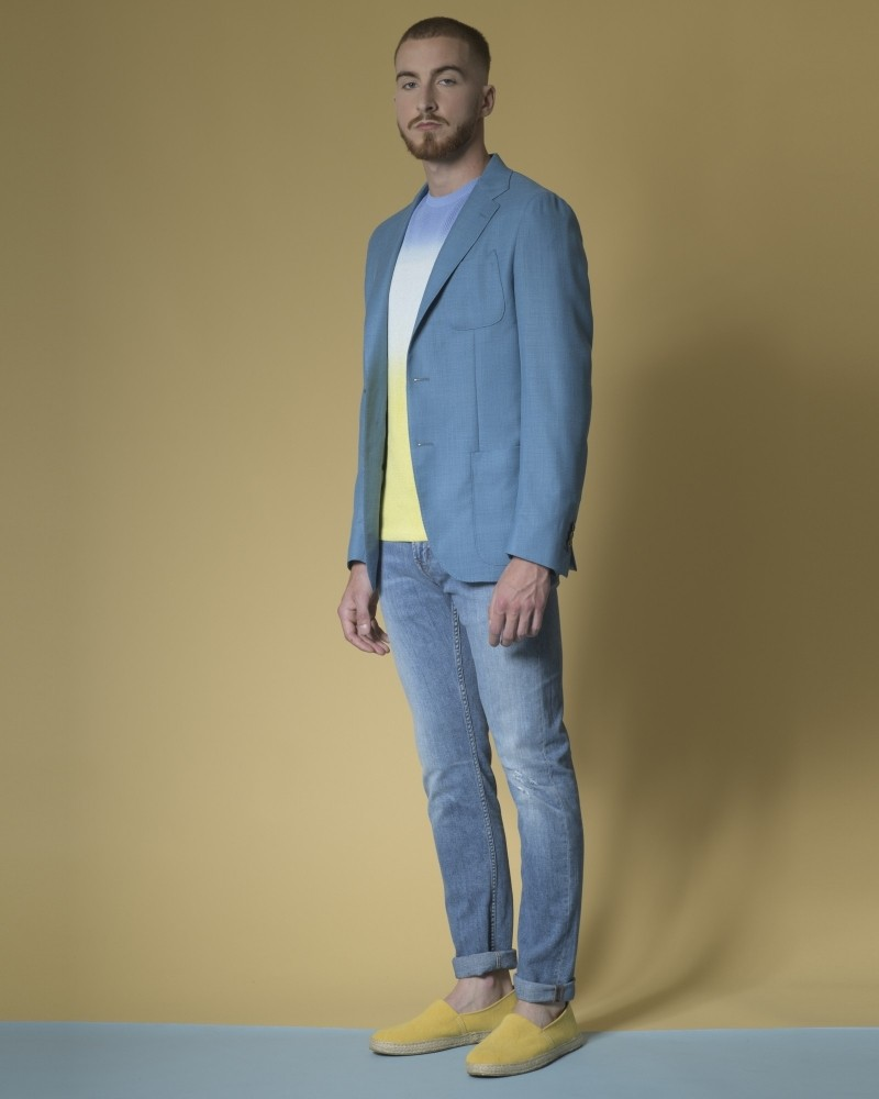 Veste en jersey à simple boutonnage Luca Roda