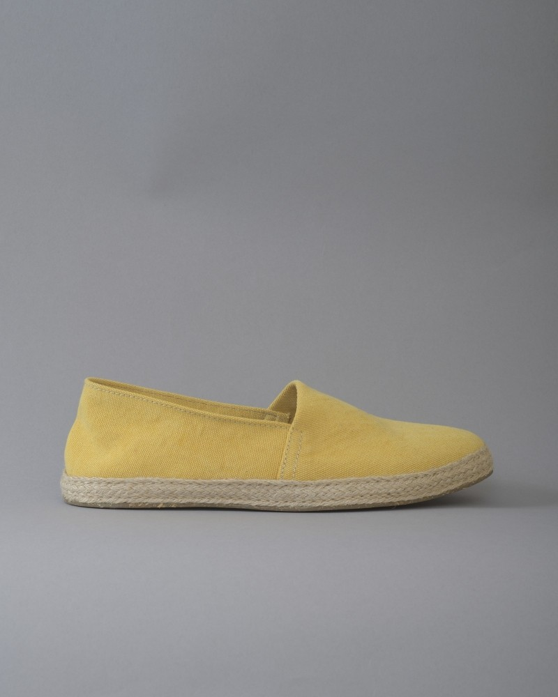 Espadrilles en toile jaunes...