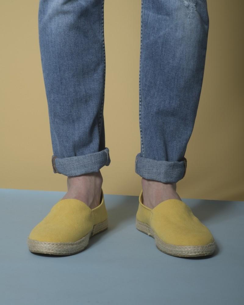 Espadrilles en toile jaunes Eleventy