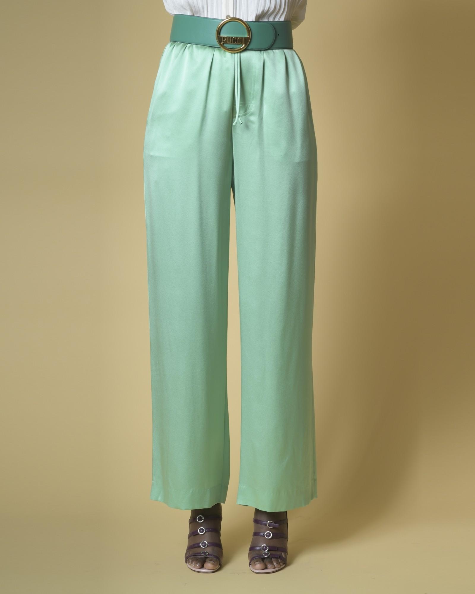 Pantalon large en satin de...