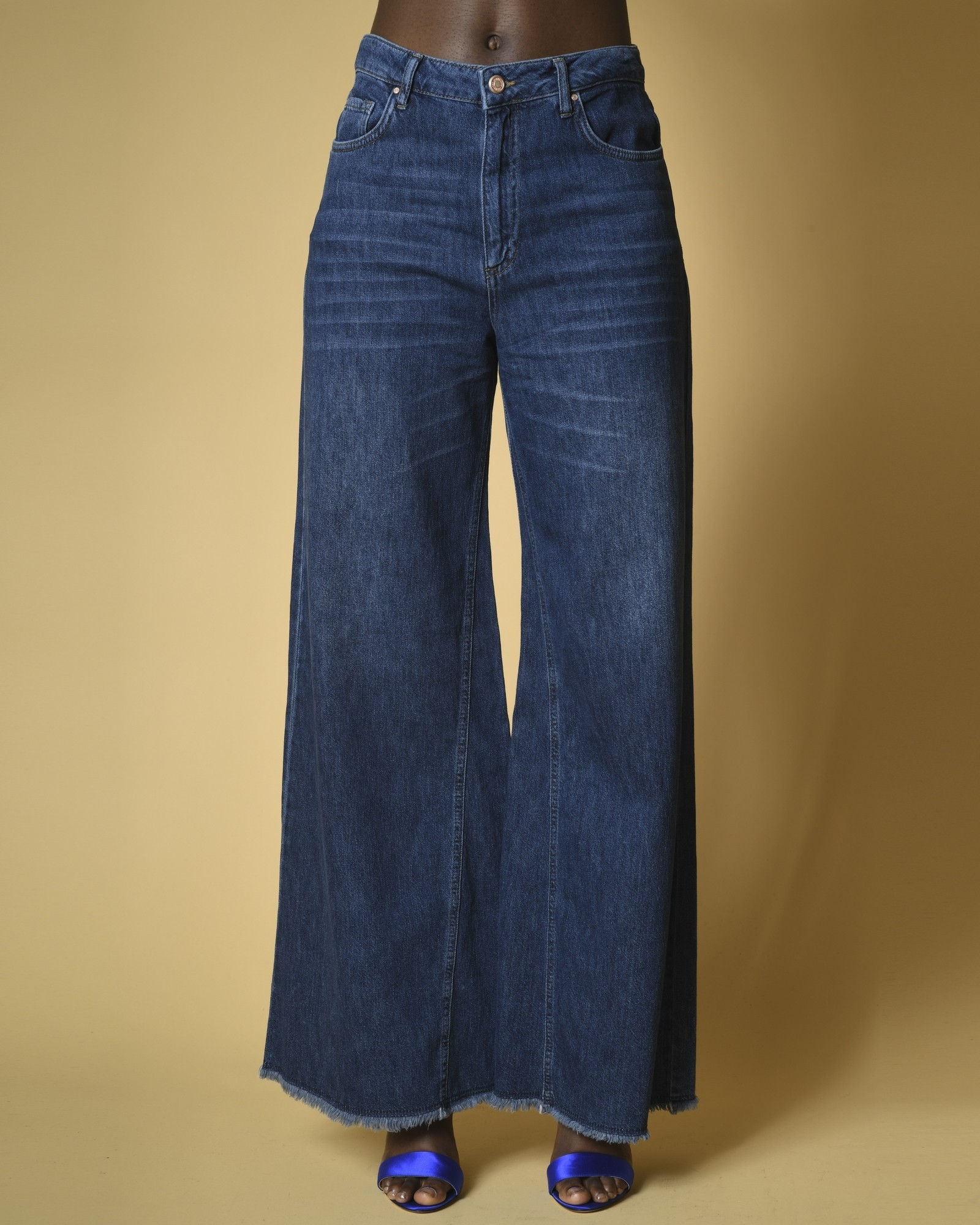 Jean large taille haute BSB