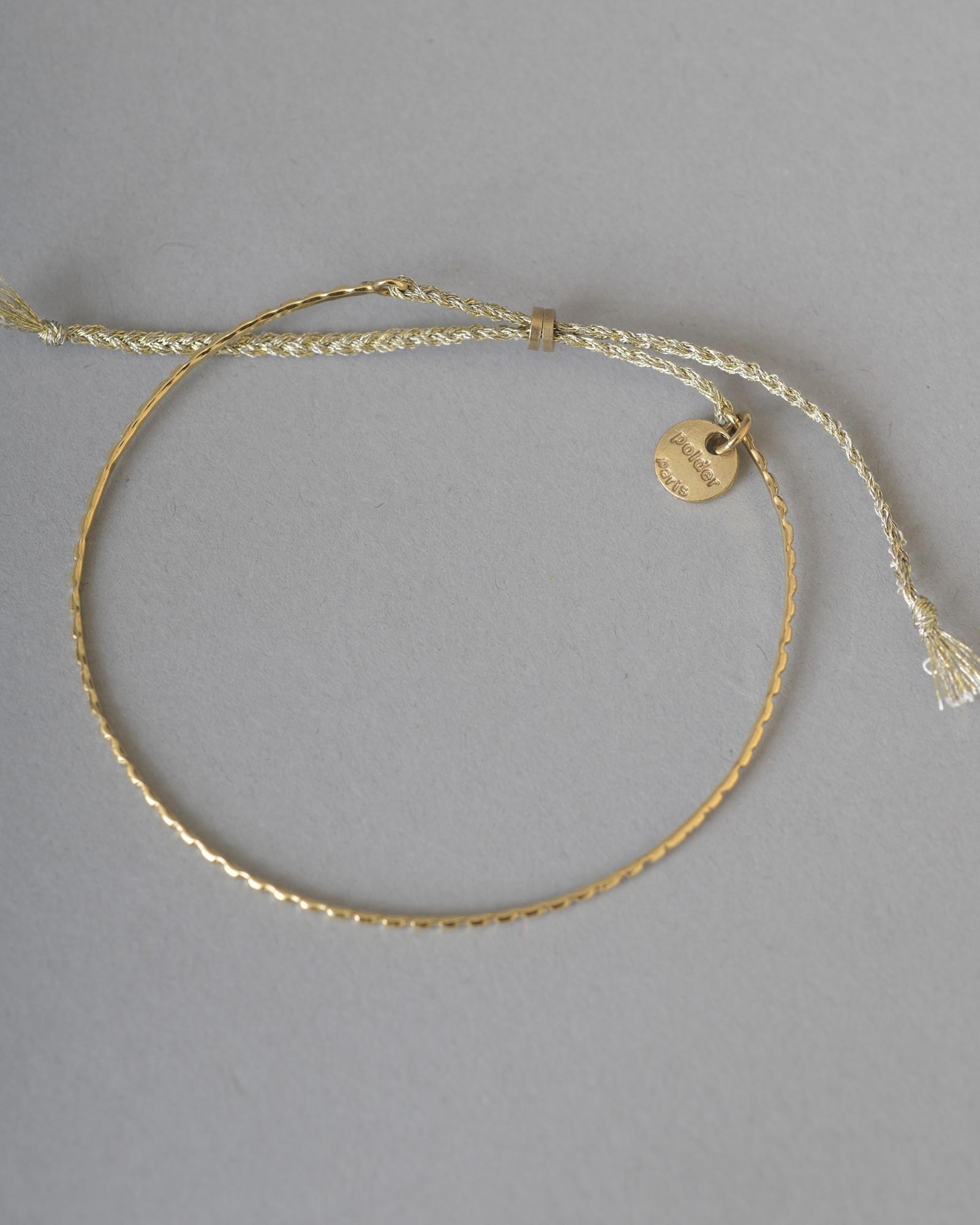 Bracelet doré à corde métallisée Polder