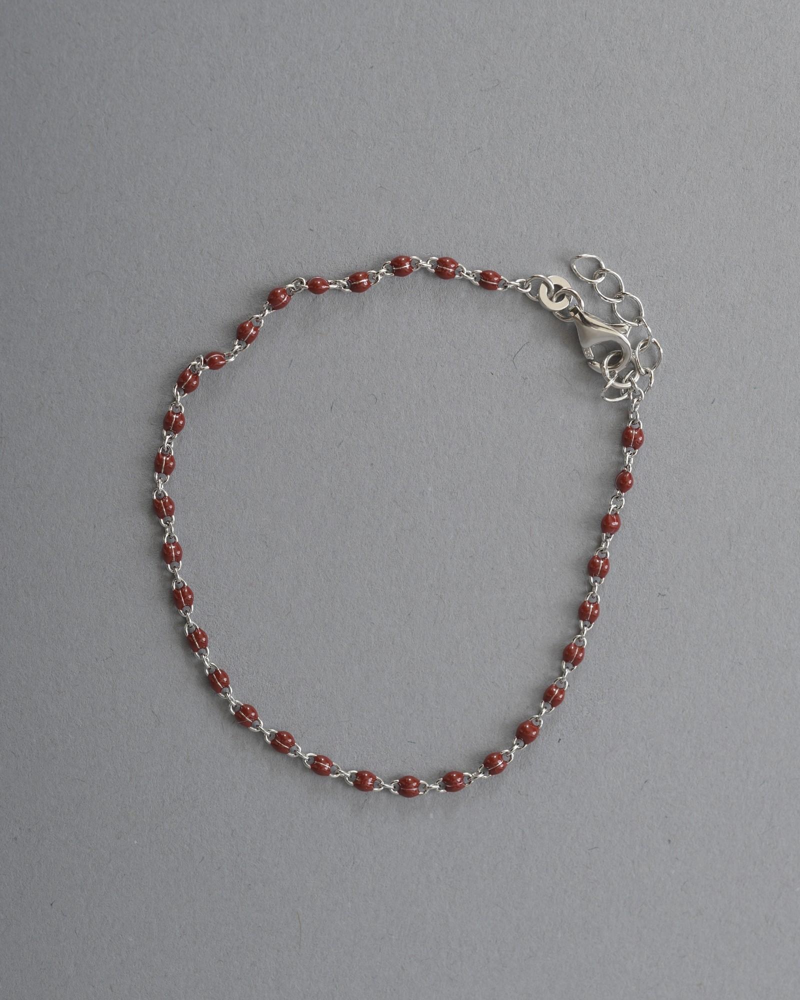 Bracelet argenté à perles...