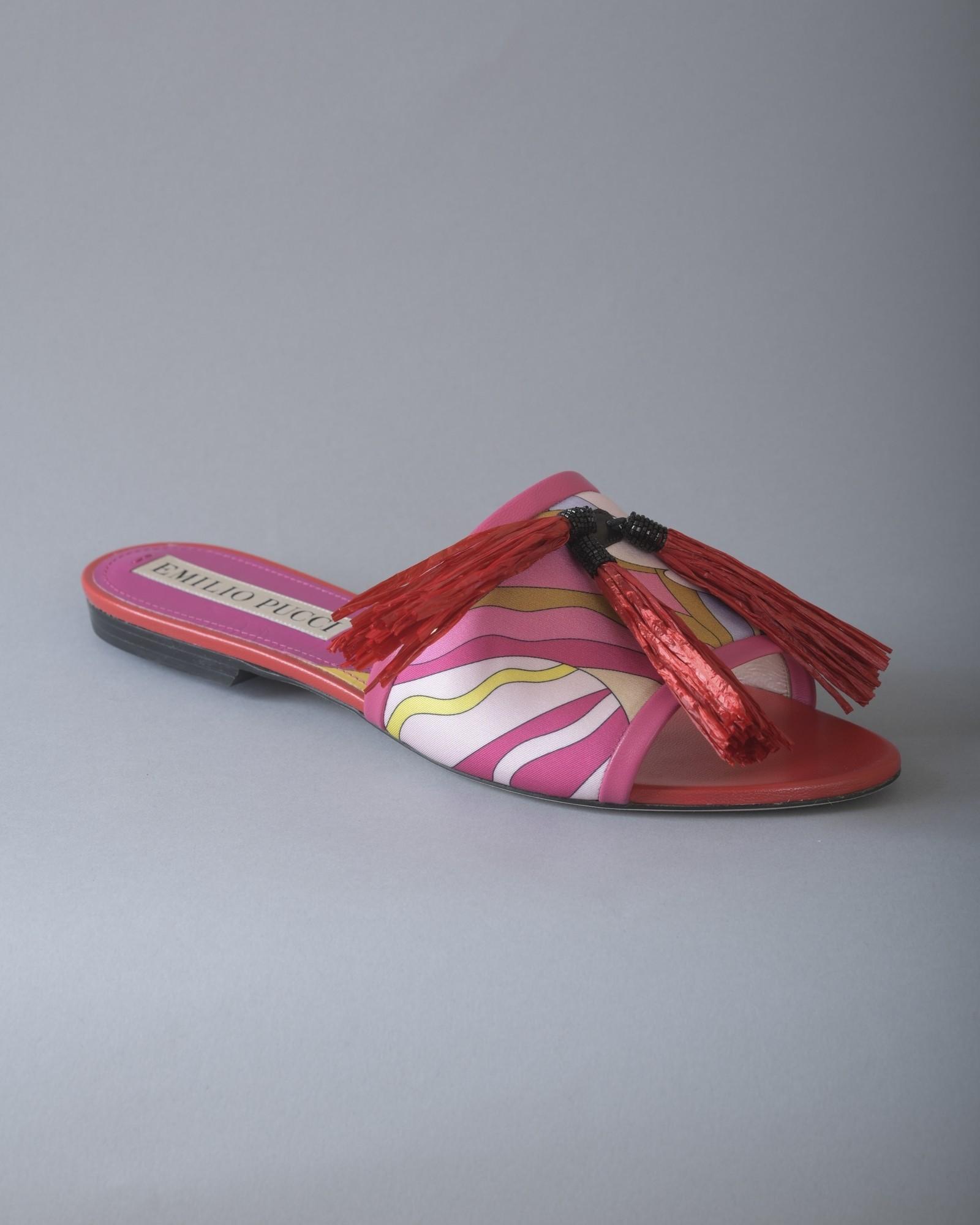 Sandales plates en cuir à...