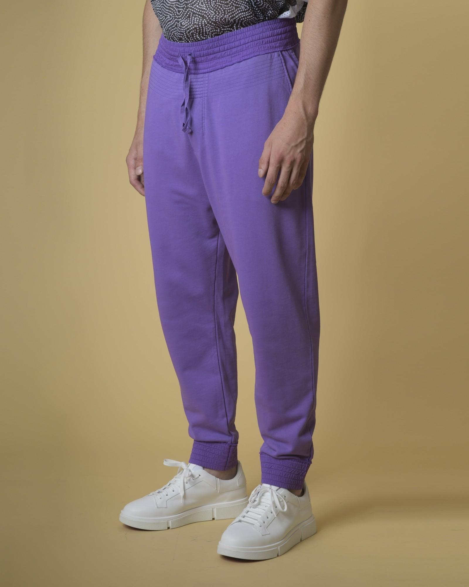 Jogging smocké en coton violet Damir Doma