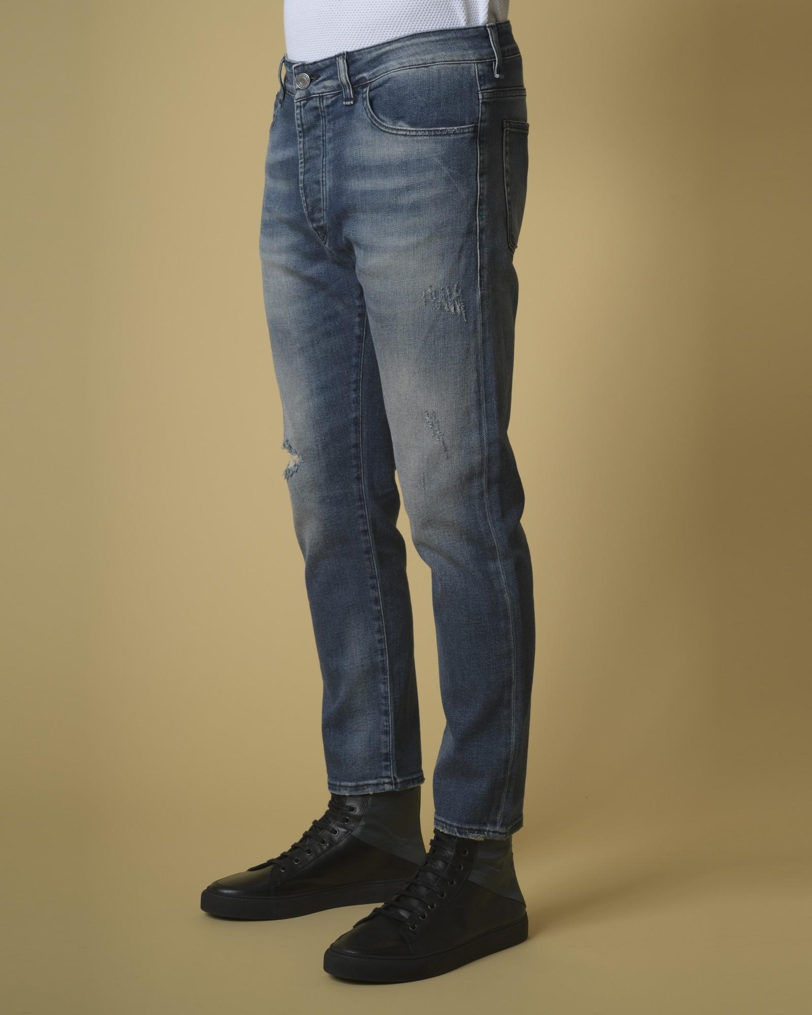Jean bleu effet délavé  Low Brand