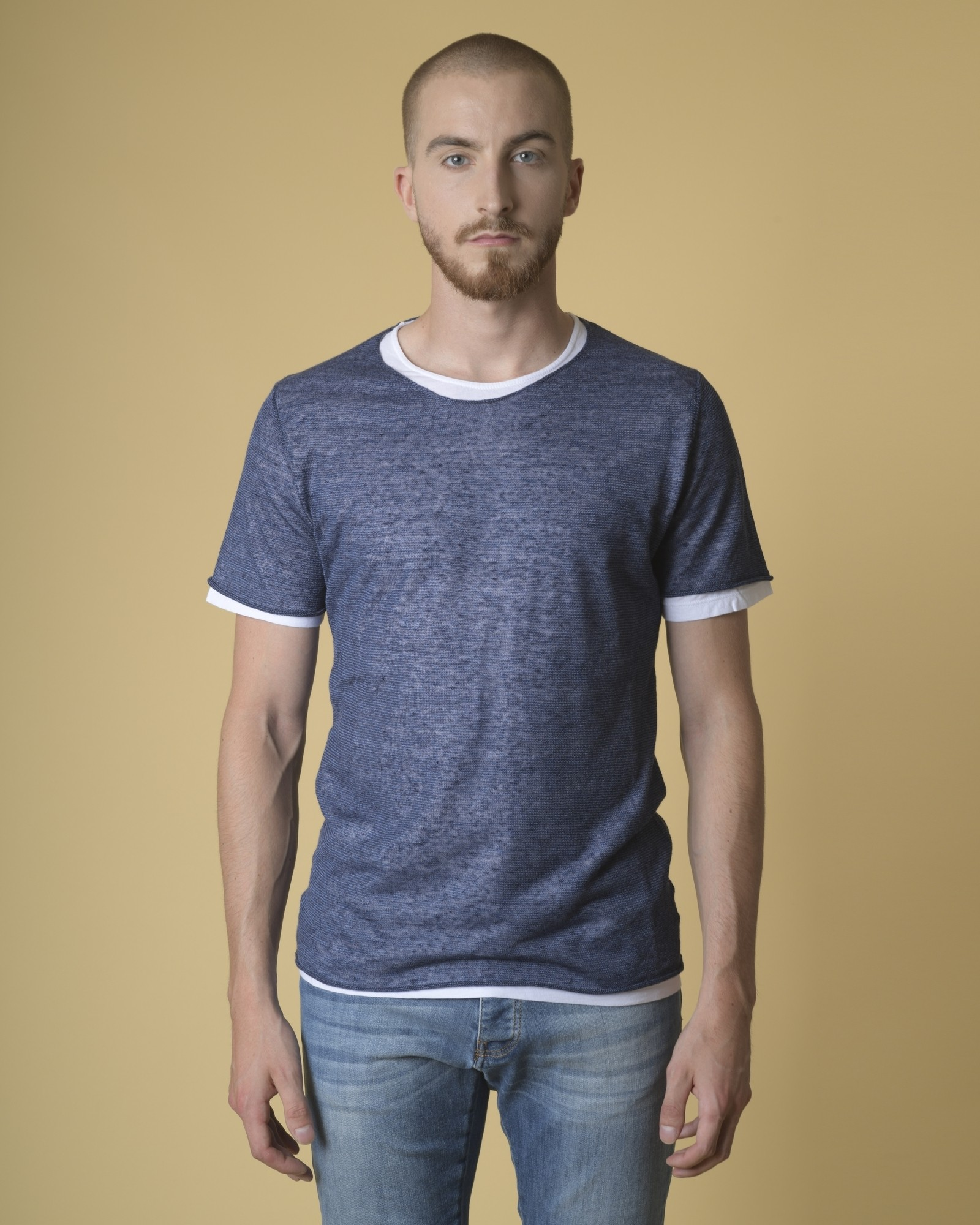 T-shirt en lin mélangé...