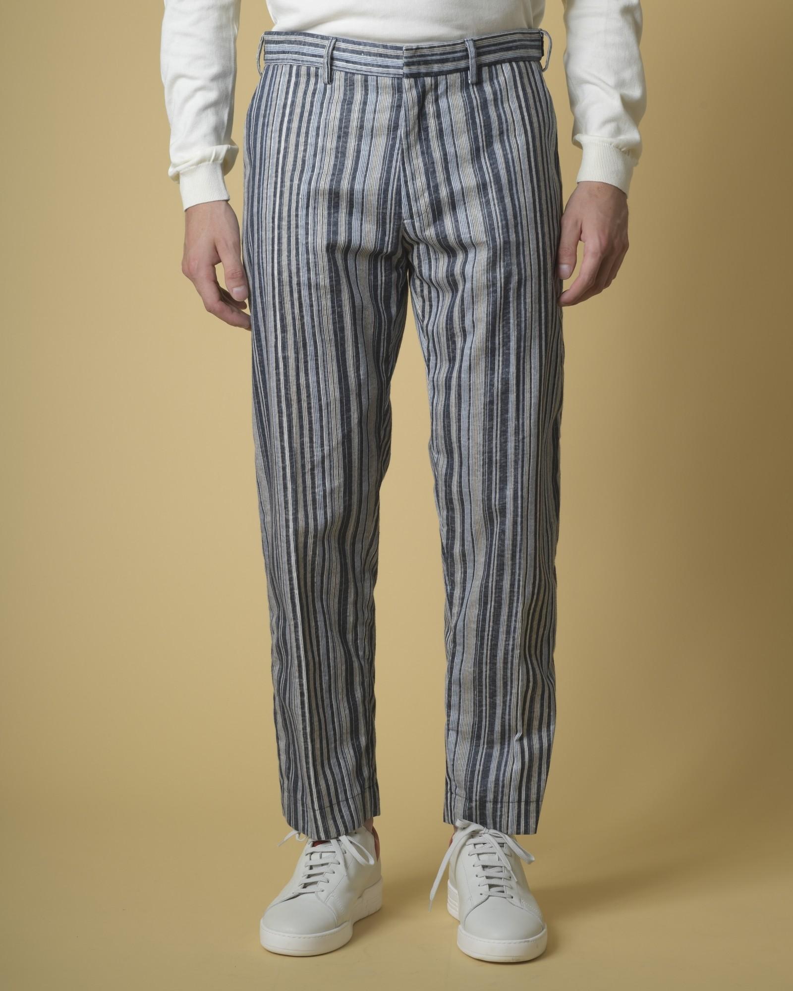 Pantalon en lin et coton...
