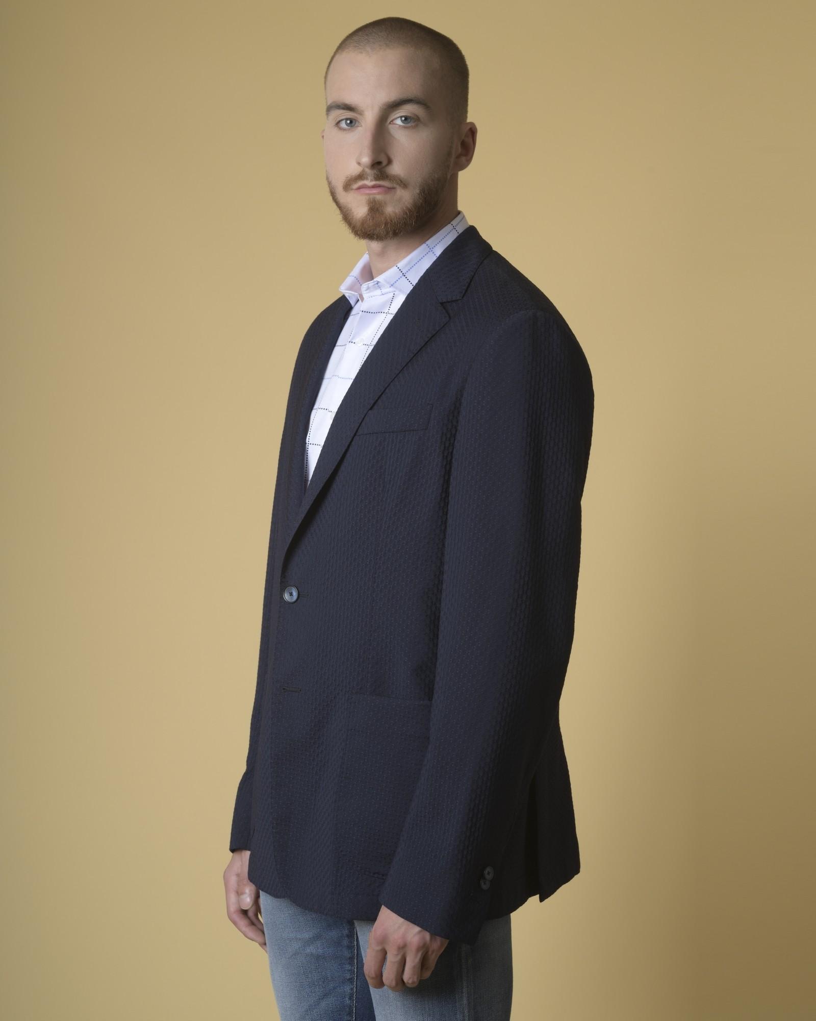 Veste en laine à imprimé jacquard Luca Roda